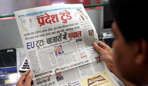 Effekte in aller Welt: Auch in Indien gehen die Kurse runter. Foto: dpa