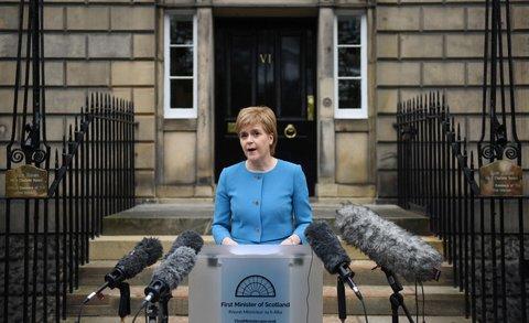 Nicola Sturgeon, Chefin der schottischen Regionalregierung.