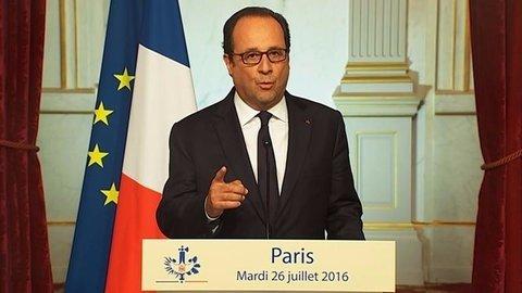 Frankreichs Präsident Hollande spricht per TV zum Volk