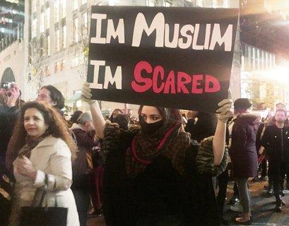 Proteste gegen Donald Trump. Foto: dpa