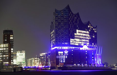 General view shows the new philharmonic hall Elbphilharmonie in Hamburg X02840 / REUTERS