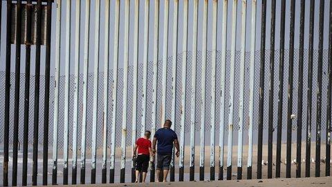 Grenzzaun zwischen den USA und Meiko