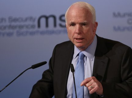 U.S. Senator McCain speaks at the opening of the 53rd Munich Security Conference in Munich X90041 / REUTERS