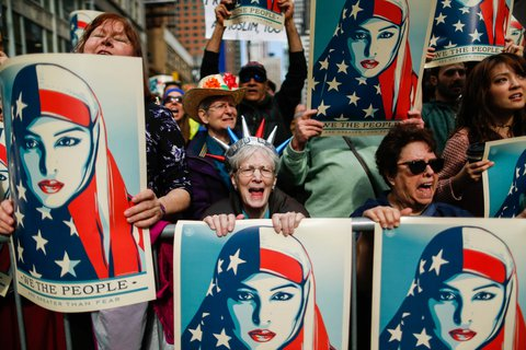 Demonstranten in New York. (Foto: Eduardo Munoz Alvarez/AFP)