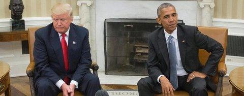 Donald Trump und sein Vorgänger Barack Obama