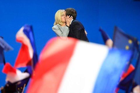Das Ehepaar Macron. AFP PHOTO / Eric FEFERBERG