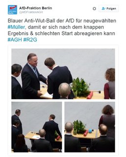Auch die AfD gratuliert.