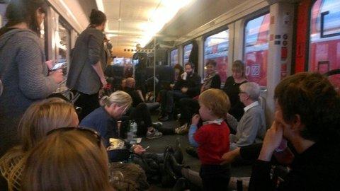 Im Regionalzug nach Berlin. Foto: privat