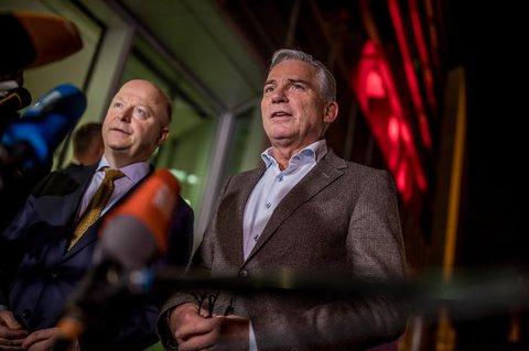 CDU-Vize Thomas Strobl (rechts) neben Michael Theurer, FDP-Vorsitzender von Baden-Württemberg