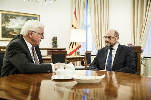 Bundespräsident Steinmeier und SPD-Chef Schulz