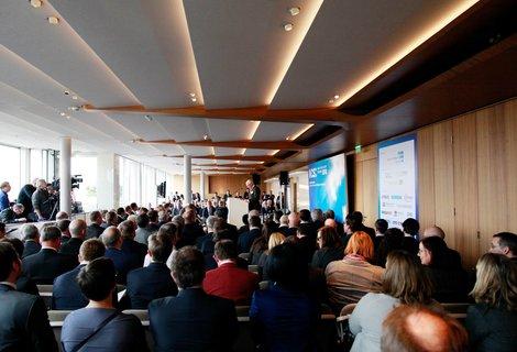 Munich Cyber Security Conference im sechsten Stock des Bayrischen Hofs.