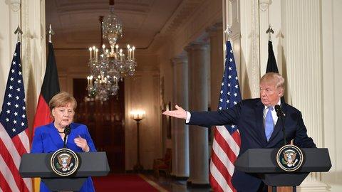 Nicht bei allen Themen einer Meinung: Merkel und Trump.