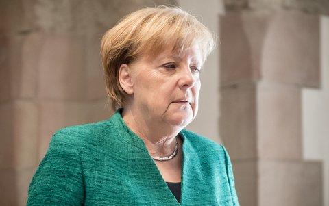 Kanzlerin Merkel nach der Sitzung der CDU-Fraktion