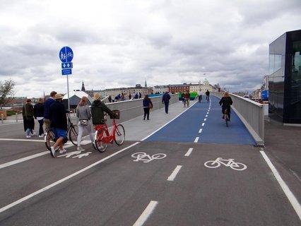 Eine Brücke in Kopenhagen.