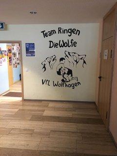 Im Untergeschoss der Stadthalle Wolfhagen