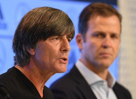 Viel zu sagen: Löw und Bierhoff in München