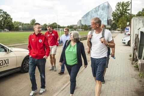 Gemeinsam mit Alex und SPD-Direktkandidatin Stephanie Then (M.) in Frankfurt