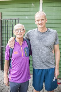 Zwei Olympiateilnehmer von 1992: Hockey-Trainer Paul Lissek und Henning Harnisch