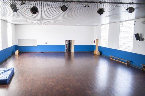 Die Halle des WSV Lampertheim