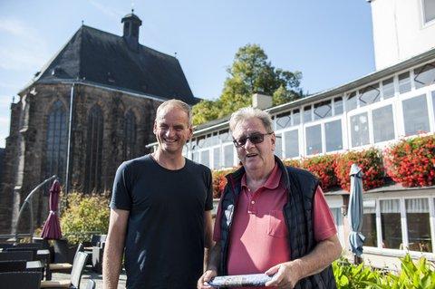 Mit Egon Vaupel, ehemaliger Oberbürgermeister von Marburg