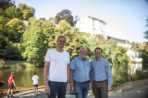 Mit Hans-Werner (Mitte) und SPD-Landtagsabgeordnetem Tobias in Weilburg