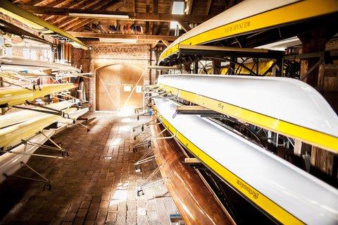 Im Bootshaus des Weilburger Rudervereins