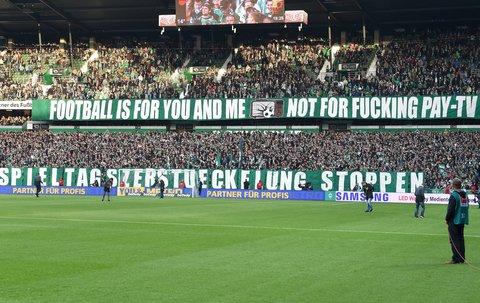 So liest sich dass dann mit dem Protest der Fans im Weserstadion.