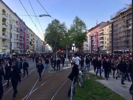Die Demo in der Warschauer Straße