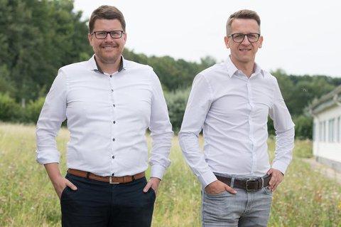 Gründeten mit drei Kollegen die Firma Pendix: Thomas Herzog (l.) Christian Henning (r.).