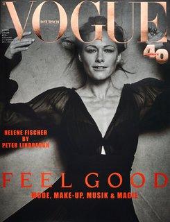 Für die Januar-Ausgabe der Deutschen Vogue fotografierte Lindbergh Schlagerstar Helene Fischer