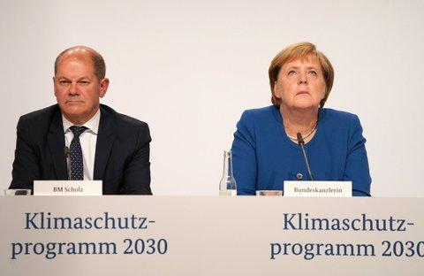 Bundeskanzlerin Angela Merkel und Finanzminister Olaf Scholz