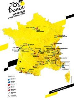 Der Etappenplan der Tour de France 2020.