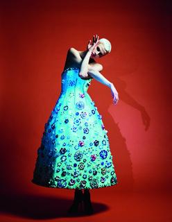 Das Model Saskia de Brauw für die Vogue Deutschland