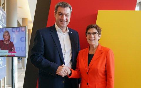 Markus Söder und Annegret Kramp-Karrrenbauer.