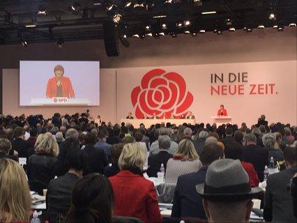 Erster Auftritt Saskia Esken: von der Paketbotin zur Softwareentwicklerin bis in die Politik habe sie es nur dank der SPD geschafft.