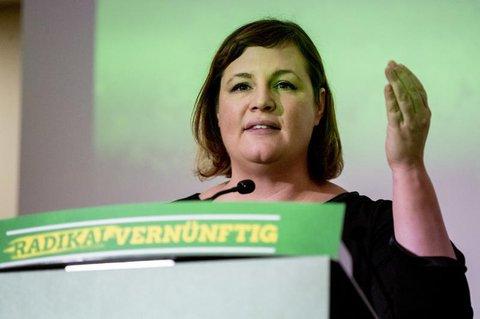 Kapek auf dem Landesparteitag der Grünen