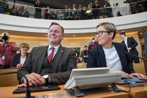 Bodo Ramelow und Susanne Hennig-Wellsow.