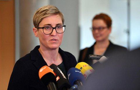 Susanne Henning-Wellsow, Partei- und Fraktionschefin der Linken in Thüringen