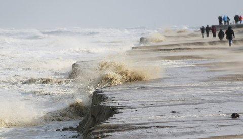 Abbruchkante am Strand von Wangerooge.
