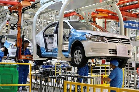 Produktion in einem VW-Werk in China.