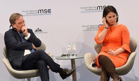 Annalena Baerbock und Armin Laschet in München.