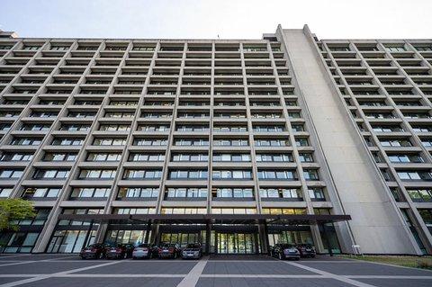 Eine Außenaufnahme der Bundesbank.