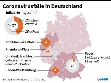 Die Coronavirusfälle in Deutschland