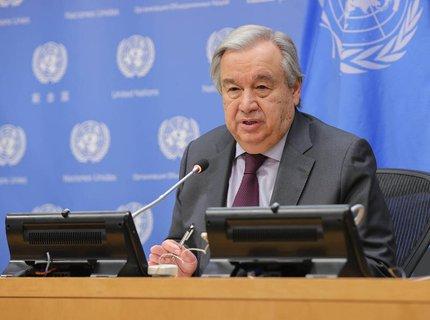 Generalsekretär der Vereinten Nationen: António Guterres.
