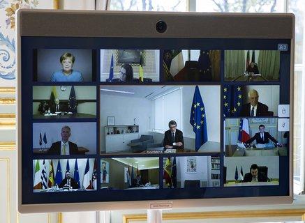Gipfel im Homeoffice: Die EU-Staats- und Regierungschefs tagten per Videokonferenz.