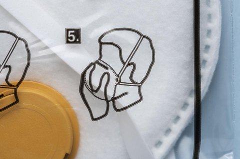 Eine FFP3-Atemschutzmaske