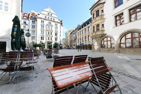 Nichts los. Die Innenstadt von München wird auch in den kommenden Wochen weitgehend leer bleiben.