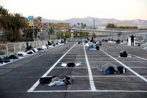 Schlafplätze für Obdachlose in Las Vegas