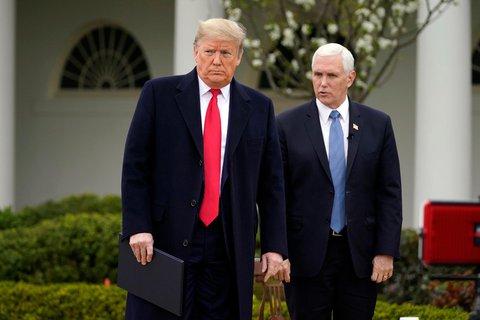 Erste Riege. US-Präsident Trump und Vize Pence.