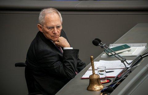 Will über virtuelle Plenarsitzungen sprechen: Wolfgang Schäuble